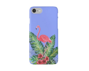 iphone Snap Phone Case, printed phone case, Watercolor phone case, Flamingo Phone Case, Ocean Case, Tropical Case, Painted Case