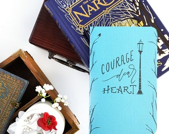 Courage Dear Heart Journal —Hand Lettered 80-page Notebook —Aslan, Narnia, CS Lewis