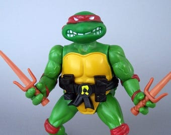 Vintage TMNT Soft Head Raphael 100% Complete Teenage Mutant Ninja Turtles