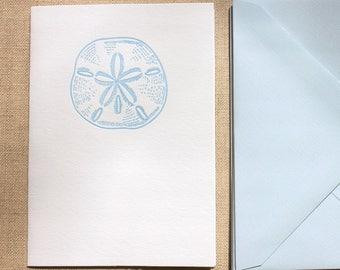 Sand Dollar Letterpress Card Set