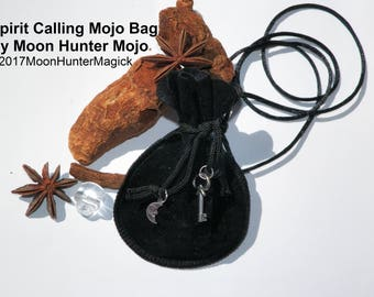 Spirit Calling Mojo Bag by Moon Hunter Mojo Hand Made Necromancy Ouija Charm Bag Gris Gris Conjure