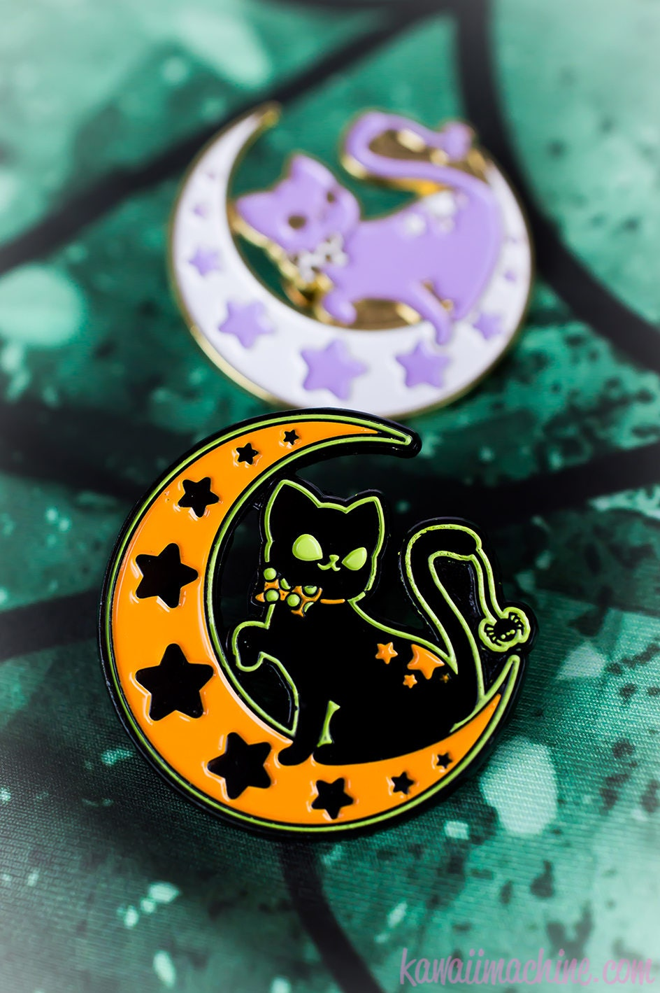 Pin By Casey Speights On Nails: Moonlight Kitty Cute Enamel Pin Soft Enamel Cat Lapel Pin