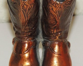 1940s COWBOY Boots Metal Figurine