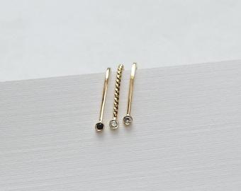 14k Diamond Earrings Gold Diamond Earrings White Diamond Earrings Diamond Stud Earrings