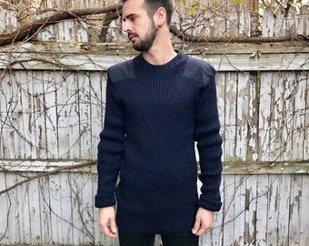 Vintage Navy Commando Sweater