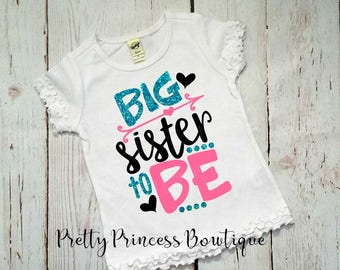 Im Going To Be A Big Sister, Big Sister Shirt, Baby Announcement, Big Sister To Be, Announcement Shirt, I'm Going To Be A, Big Sister