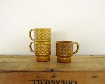 Caramel Stacking Mugs