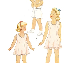 McCall 5064 Girl's Vintage 1940s Slips and Panties Sewing Pattern