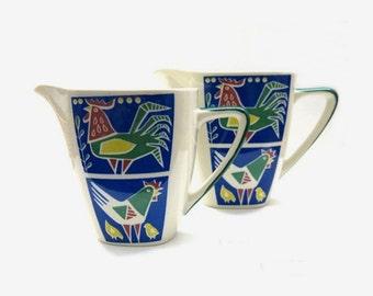 2 milk jugs from Villeroy & Boch Germany  / Decor Babette / 70s design
