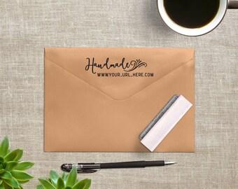 Handmade Stamp - URL Stamp - Maker Stamp - Business Stamp