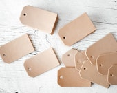 25 Blank Leather Luggage Tag Cut Outs, 25 Pack Pre Punched Luggage Tag Shape Genuine Leather Key Fob Keychain Shape Wholesale Bulk Supplies