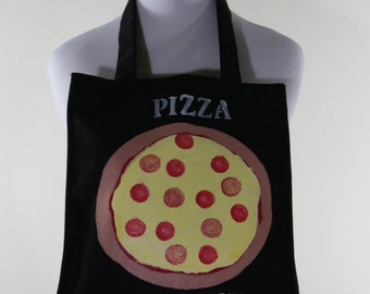 Black Canvas Bag FREE SHIPPING Pizza is Life