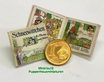 1102# German Childrens Book Schneewittchen - snow white - Doll house miniature in scale 1/12