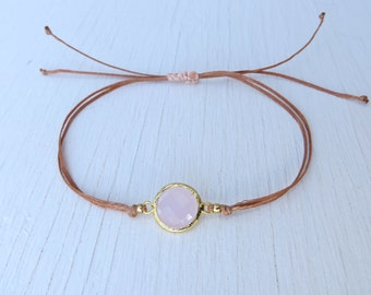 DREAMINESS - Women friendship bracelet with gold plated rose crystal glass BW1704