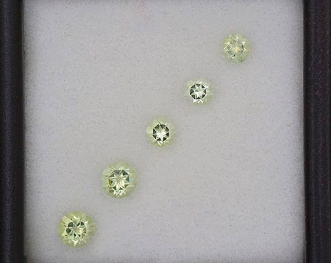 UPRISING SALE! Nice Yellow Green Amblygonite Gemstone Set from Brazil 0.86 tcw.