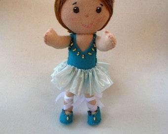 Felt Ballerina Doll, Handmade Ballerina Doll, Girl's Doll, Ballerina Handmade