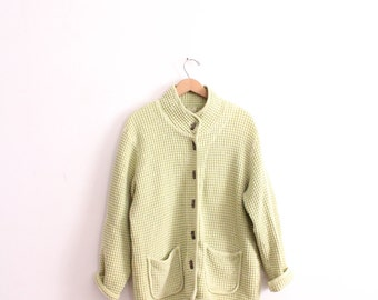 Pale Green Textured 90s Jacket