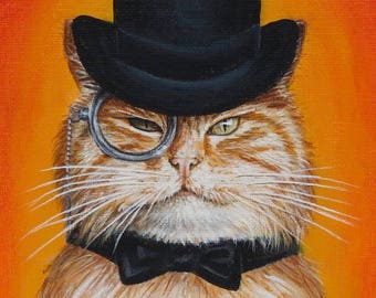 Cat in a Hat Painting