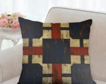 Rustic Antique Game Board Designer Pillow