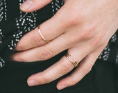 Gold Rings - Gold Stacking Rings - Stacking Rings - Thin Gold Rings - Hammered Stacking Ring - Rings for Women - Gifts for her