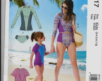 M7417 McCall's Misses Swimsuits Sewing Pattern Sizes 8-22 Makes Adult Sizes Only