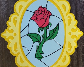 Beauty and the Beast Inspired Happy Birthday Banner