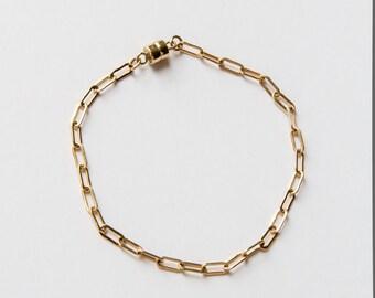 Gold Filled Flat Chain Bracelet