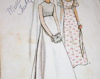 Vintage wedding dress patterns – Etsy
