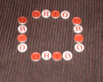 "RARE -Ohio State ""Budweiser"" ""OH-IO"" Scarlet & Gray Bottlecap Magnets!"
