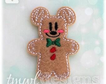 "Mr Gingerbread Cookie Mouse Feltie Digital Design File - 1.75"""