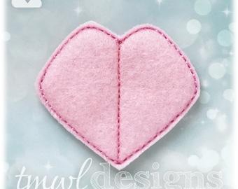"Fantasy Tournament Heart Badge Feltie Digital Design File - 1.75"""