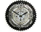 Steampunk Wall Clock, Steampunk Decor, Gift for Him, Bike Gear Clock, Bicycle Wall Clock, Bike Parts Clock, Gifts for Engineer, Cycling Gift