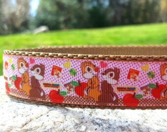 Chipmunks 1 Inch Width Dog Collar
