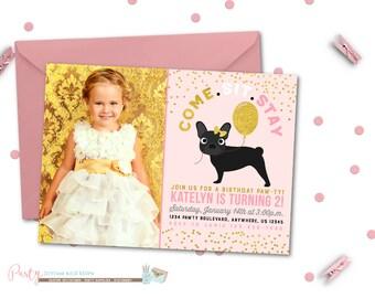 Dog Birthday Invitation, Puppy Birthday Invitation, Puppy Birthday Party, Dog Birthday Party, Pawty Birthday Invitation, Puppy Invitation