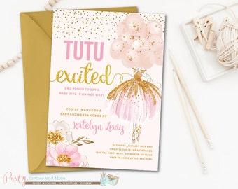 ballerina baby shower invitation ballerina invitation tutu baby shower invitation pink and gold