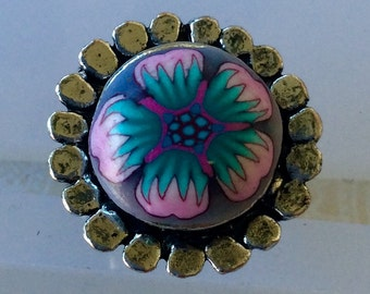 Polymer Clay Adjustable Ring