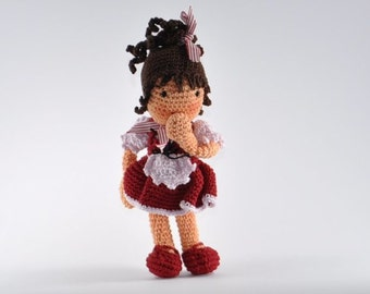 "Doll ""Lisa"" Amigurumi crochet pattern"