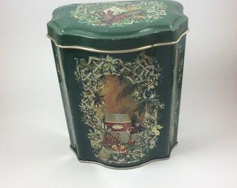 Vintage Avon Christmas canister, vintage Avon tin, Avon tin 1981, Avon collectibles, vintage Avon collectibles, Vintage Avon canister