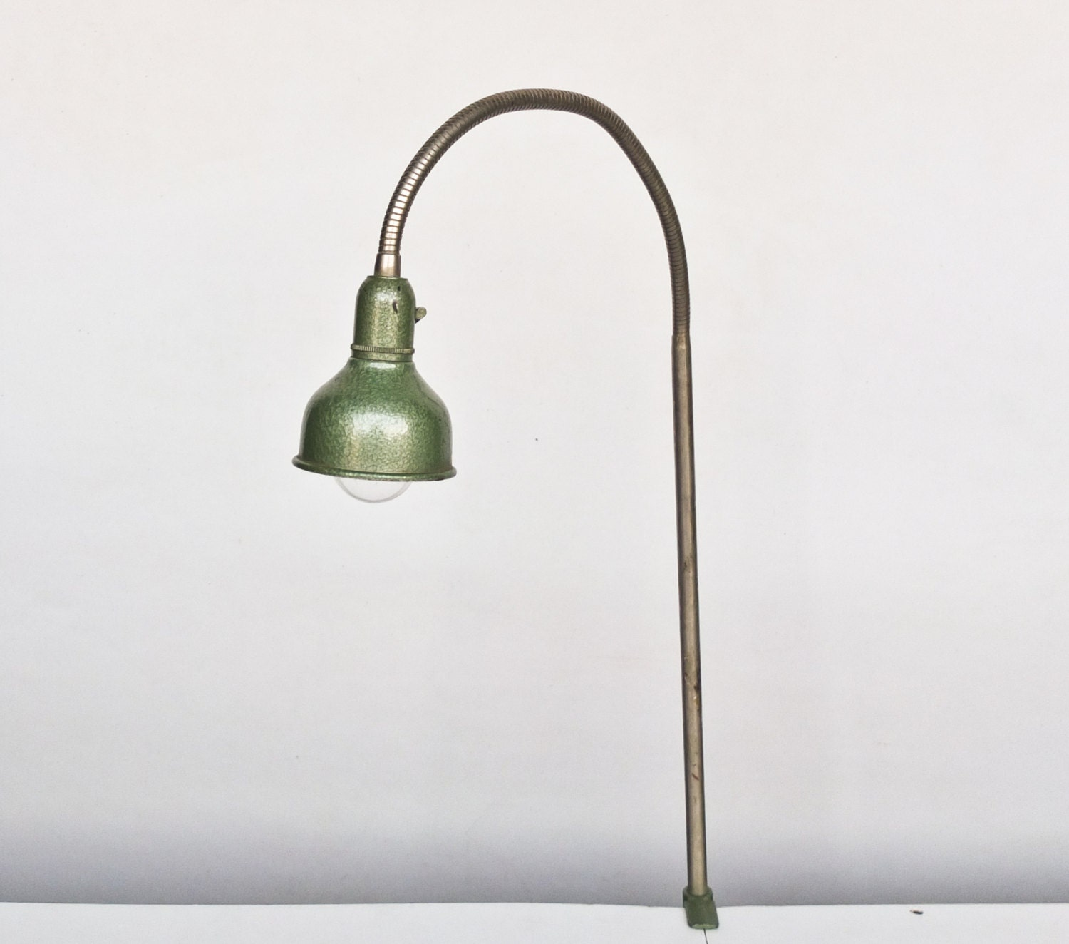 Workbench Lights Vintage: Vintage Clamp On Desk Light / Gooseneck Work Lamp