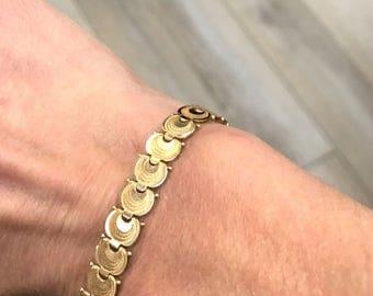 Vintage Swirl Bracelet - 14 karat yellow gold
