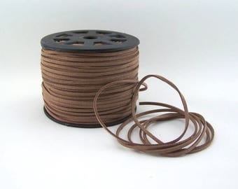 Brown Faux Suede Cord 20 Feet USA Seller