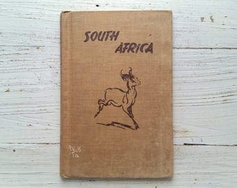 South Africa Book . 1954 . Alice Taylor . Rafaello Busoni . Holiday House NY . Educational History . Hardcover . Vintage 1950's Story . Rare