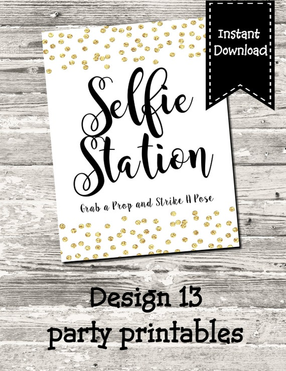 It's just a graphic of Superb Selfie Station Sign Free Printable