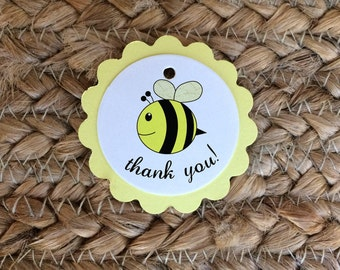 40+ Baby Bee Party Favor Tags, Bee Day, Bee Thank You Labels, Bee Birthday, Neutral Baby Shower, Bumble Bee Party, Honey Bee Baby Shower Tag