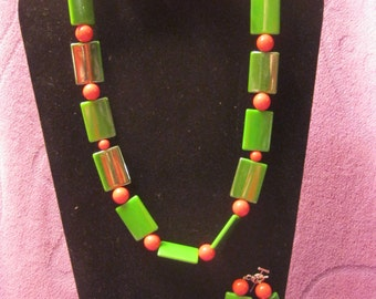 GREEN And RED Jewelry Set