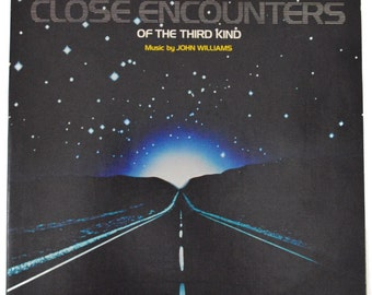 Vintage 70s John Williams Close Encounters of the Third Kind Gatefold Soundtrack Album Record Vinyl LP with 7-inch