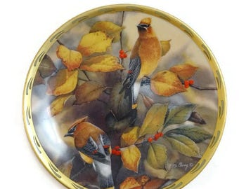 Vintage Lenox Among the Berries Collectors Plate Bird Natures Collage Plate Collection 1992