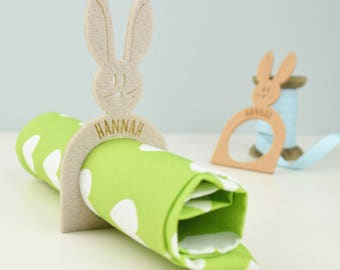 Bunny napkin ring - Easter table decoration - Easter - Bunnies