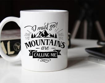 Mountain Climber Coffee Mug, Rock Climbing, Mug Gift, Mountain Range, Rock Climber, Bouldering, Gift for Him, Gift for Her, Gifts under 20