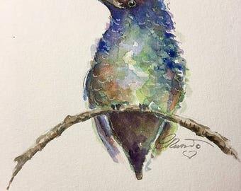 Hummingbird Watercolor Painting, Fine Art Print, Limited Edition Print, Hummingbird Illustration, Hummingbird Print, Wall Art, Home Decor,